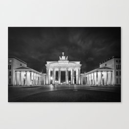 BERLIN Brandenburg Gate | Monochrome Canvas Print