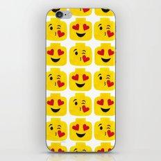 Hearts Minifigure Emoji iPhone & iPod Skin
