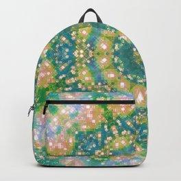 Aqua Plad Mandala Backpack