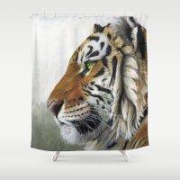 Tiger profile AQ1 Shower Curtain