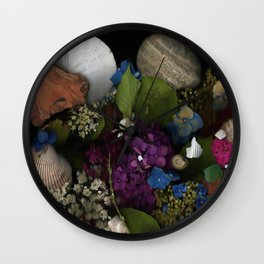 Seashell Garden Wall Clock
