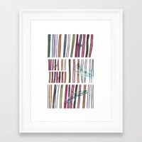 swimming Framed Art Prints featuring Swimming by Lidia Ganhito