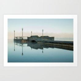 Cazenovia Lake On A Misty Morning Art Print