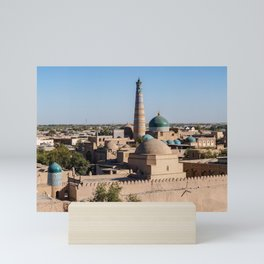 Panoramic view of Khiva - Uzbekistan Mini Art Print