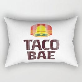 Taco Bae Vintage Print Rectangular Pillow