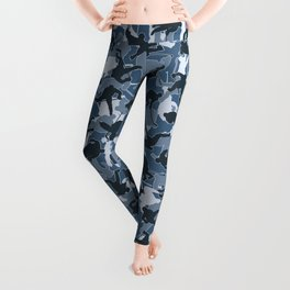 Ice Hockey Player Camo URBAN BLUE Leggings