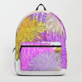 Dandelion Flowers Photo Collage Backpack