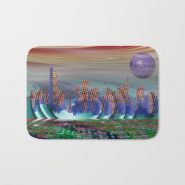 Abstract city Bath Mat