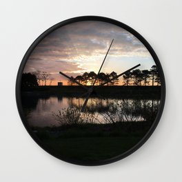 Early Morning By the Lake Wall Clock