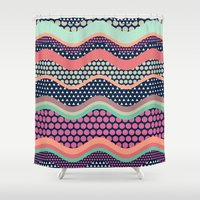 yetiland Shower Curtains featuring Patternwork XII by Metron