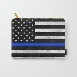 Thin Blue Line Flag 2 Carry-All Pouch
