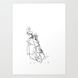 the bassist at stritch Art Print
