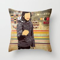 moustache Throw Pillows featuring Moustache? by jnk2007