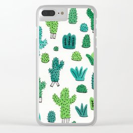 Cactus Don't Shave Clear iPhone Case