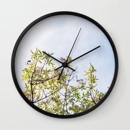Summer branches Wall Clock