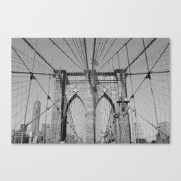 Brooklyn Bridge - B&W  Canvas Print