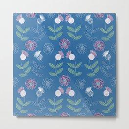 Thistles and Flowers Metal Print