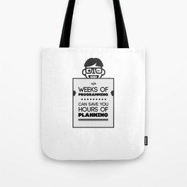 Weeks of Programming - Humor for Programmers Tote Bag