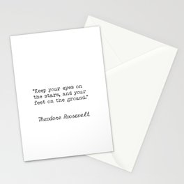 Theodore Roosevelt quote Stationery Cards