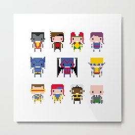 Pixel X-Men Metal Print