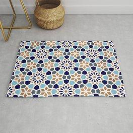 Persian Mosaic – Blue & Gold Palette Rug
