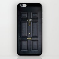 kindle iPhone & iPod Skins featuring Classic Old sherlock holmes 221b door iPhone 4 4s 5 5c, ipod, ipad, tshirt, mugs and pillow case by Three Second