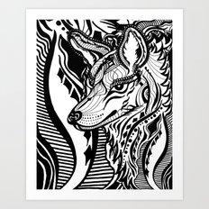 Sovereign Wolf Art Print