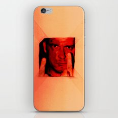 man with middle finger iPhone & iPod Skin