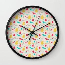 Michigan Birthday Repeating Pattern Wall Clock
