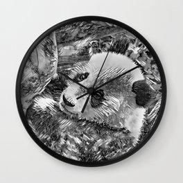 AnimalArtBW_Panda_20180102 Wall Clock