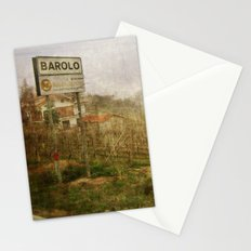 Barolo vineyards, Piedmont, Italy Stationery Cards