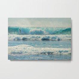 SURF-ACING Metal Print