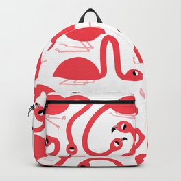 Preppy Pink Flamingos Pattern Backpack