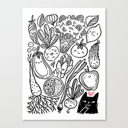 Funny Vegetables Canvas Print