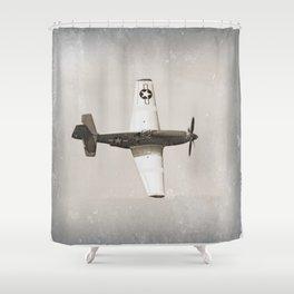 Antique Fighter Airplane Shower Curtain