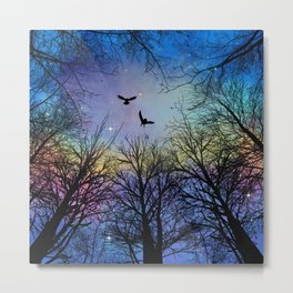 Wisdom Of The Night - Colorful Metal Print