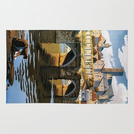 Limoges, French Travel Poster Rug