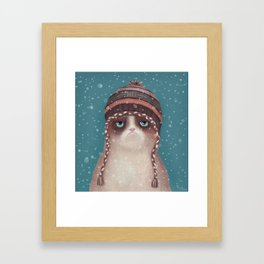 Under snow Framed Art Print