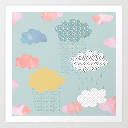 Cloud Shapes and Patterns. Art Print