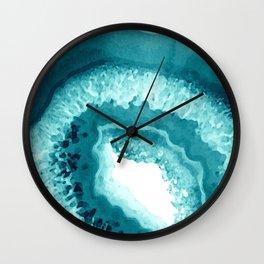 Agate Watercolor 1 Wall Clock