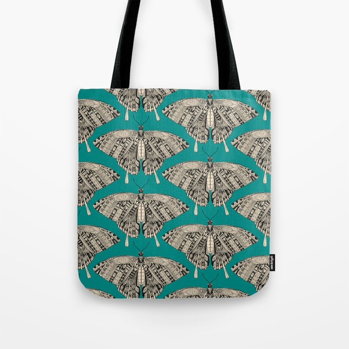 swallowtail butterfly teal black Tote Bag