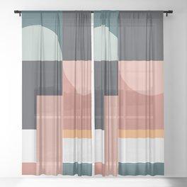 Abstract Geometric 07 Sheer Curtain
