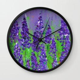 Fields of Lupine - Flowers Wall Clock