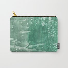 Dark sea green hand-drawn wash drawing Carry-All Pouch