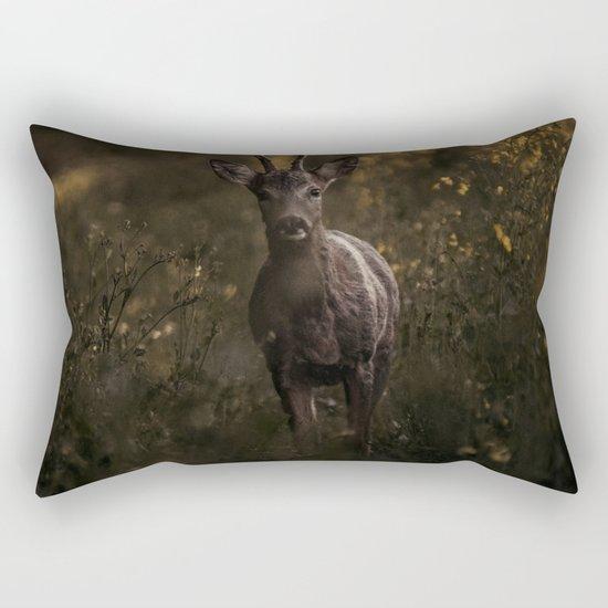 Deer in the wilderness Rectangular Pillow