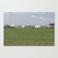 quidditch Canvas Prints featuring Quidditch Pitch by Mollie Evans