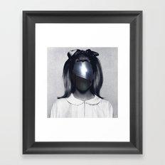 Fear collage Framed Art Print