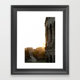 r o m a Framed Art Print