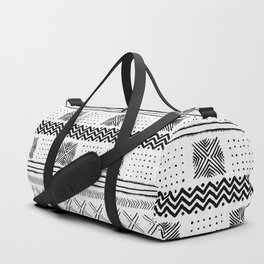 Mud Cloth Geometric Stripe Duffle Bag