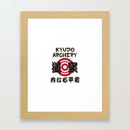 KYUDO ARCHERY Framed Art Print